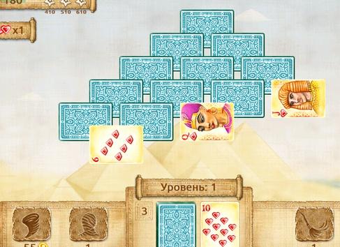 Карточные игры пасьянс пирамида
