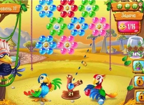 скачать игру на андроид шарики история попугаев